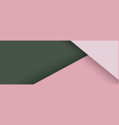 template with pale pink green triangles vector image
