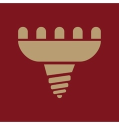 The led lamp icon Lamp and bulb lightbulb CFL vector image