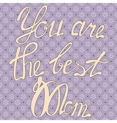 Vintage card you are the best Mom vector image