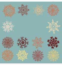 vintage snowflakes card eps 8 vector image