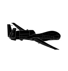 war drone uav aircraft isolated on background vector image