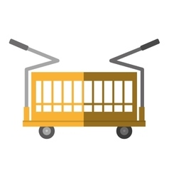 Warehouse trolley with protection boxes shadow vector