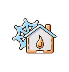 Warming center rgb color icon vector