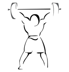 Weight lifter vector