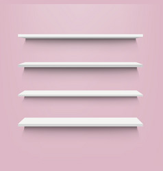 white shelf with pink background vector image