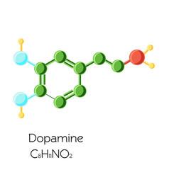 chemical molecular formula hormone dopamine vector image