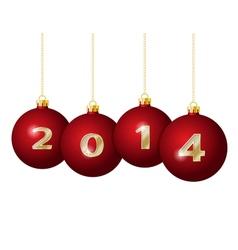 Glass Christmas Balls 2014 vector image vector image