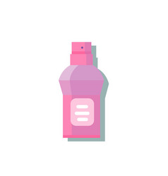 plastic bottle with spray vector image