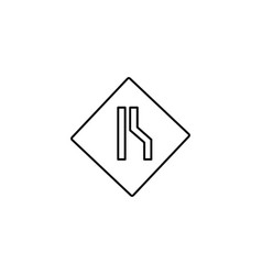 right lane road sign icon vector image