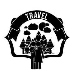 Traveler lifestyle design vector image vector image