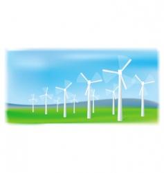 wind turbines farm vector image vector image