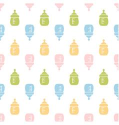 Baby seamless bottle pattern vector