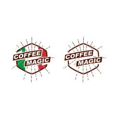 coffeemagic logotype image vector image vector image