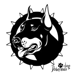 graphic drawing of a dog head service vector image