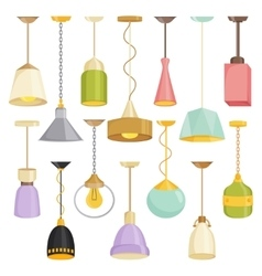 Lamps sign set for interior on white background vector image vector image