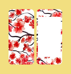 mobile phone cover back and screen japanese vector image