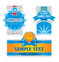 product labels vector image vector image