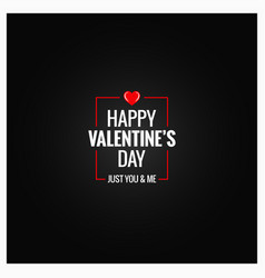 valentines day logo design background vector image vector image