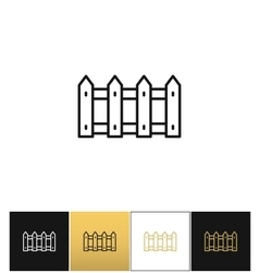 Fence or wood picket line icon vector