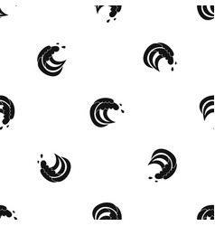 Wave of sea tide pattern seamless black vector