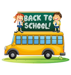 Back to school vector image vector image