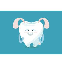 Buck teeth vector image