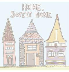 PastelHouses vector image