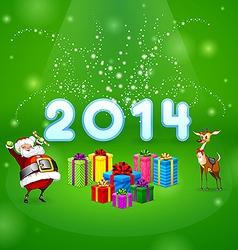 Santa and many gifts vector image
