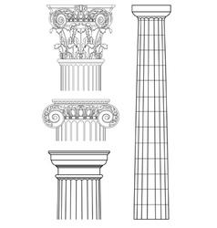 set of columns vector image vector image