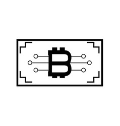 Ticket with bitcoin circuits money currency vector