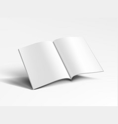3d blank a4 magazine flying on white background vector