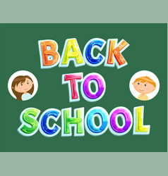 Back to school september again schoolchildren vector