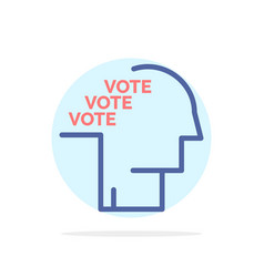Ballot election poll referendum speech abstract vector