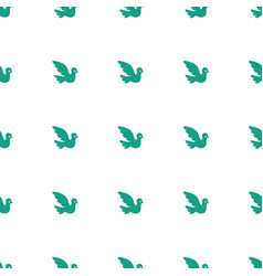bird icon pattern seamless white background vector image