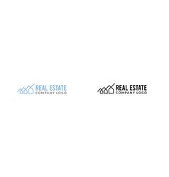 black real estate logo with a house maze symbol vector image