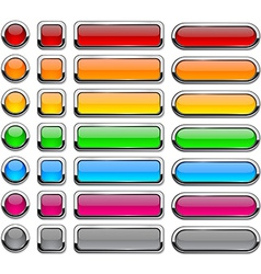 Blank buttons vector