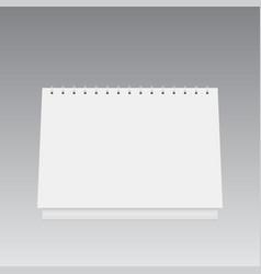 blank calendar mockup 3d vector image