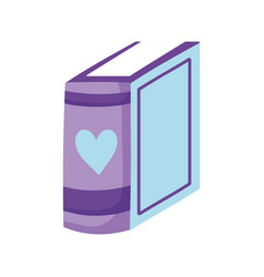 book day standing thin book isolated icon vector image