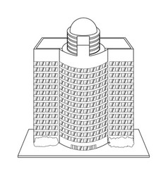Building hotel tourism vector