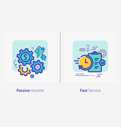 business and finance concept icons passive income vector image