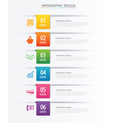 Business index infographics template with 6 data vector