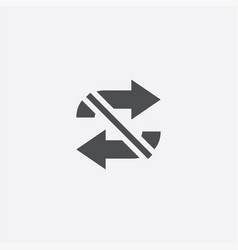 Cancel auto play outline icon vector