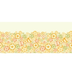 Citrus slices horizontal seamless pattern vector image