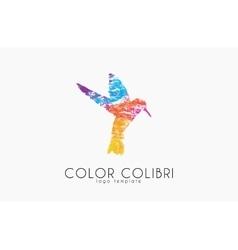 Colibri logo Color colibri Bird logo Creative vector image