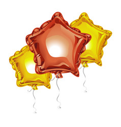 composition of realistic 3d foil balloons in the vector image