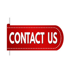 Contact us banner design vector