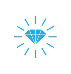 diamond icon design template isolated vector image
