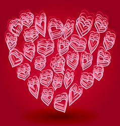 Doodle heart shape vector