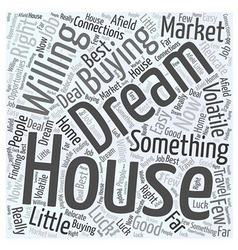 Dream houses Word Cloud Concept vector