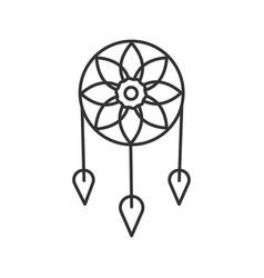 dreamcatcher linear icon vector image
